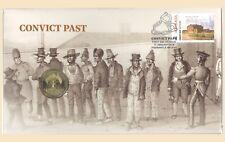 Australia 2018 Convict Past PNC Stamp & $1 UNC Coin Cover