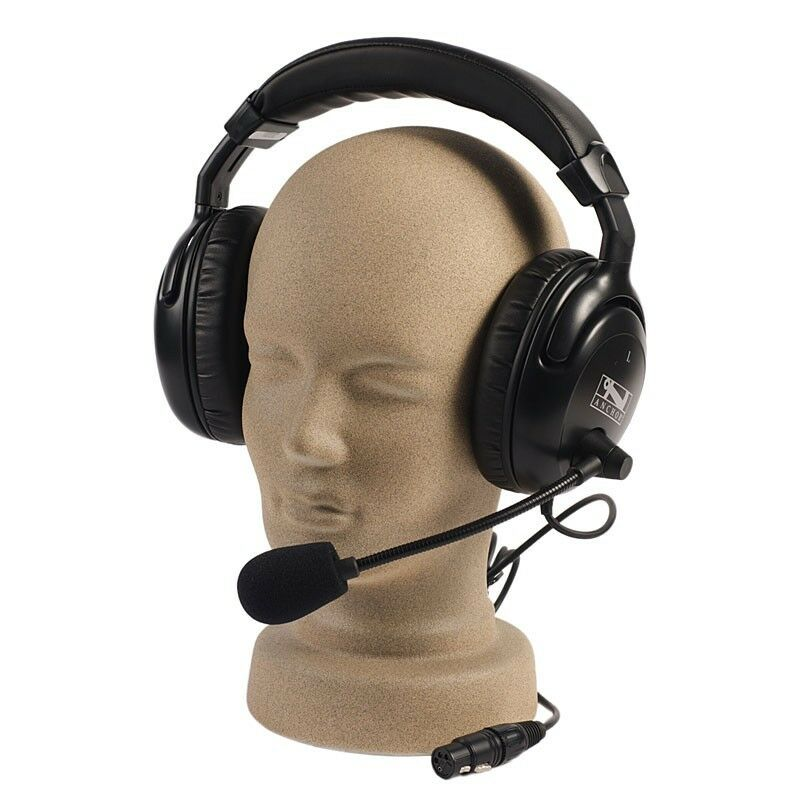 Anchor Audio headset with microphone, dual muff, new with warranty H-2000