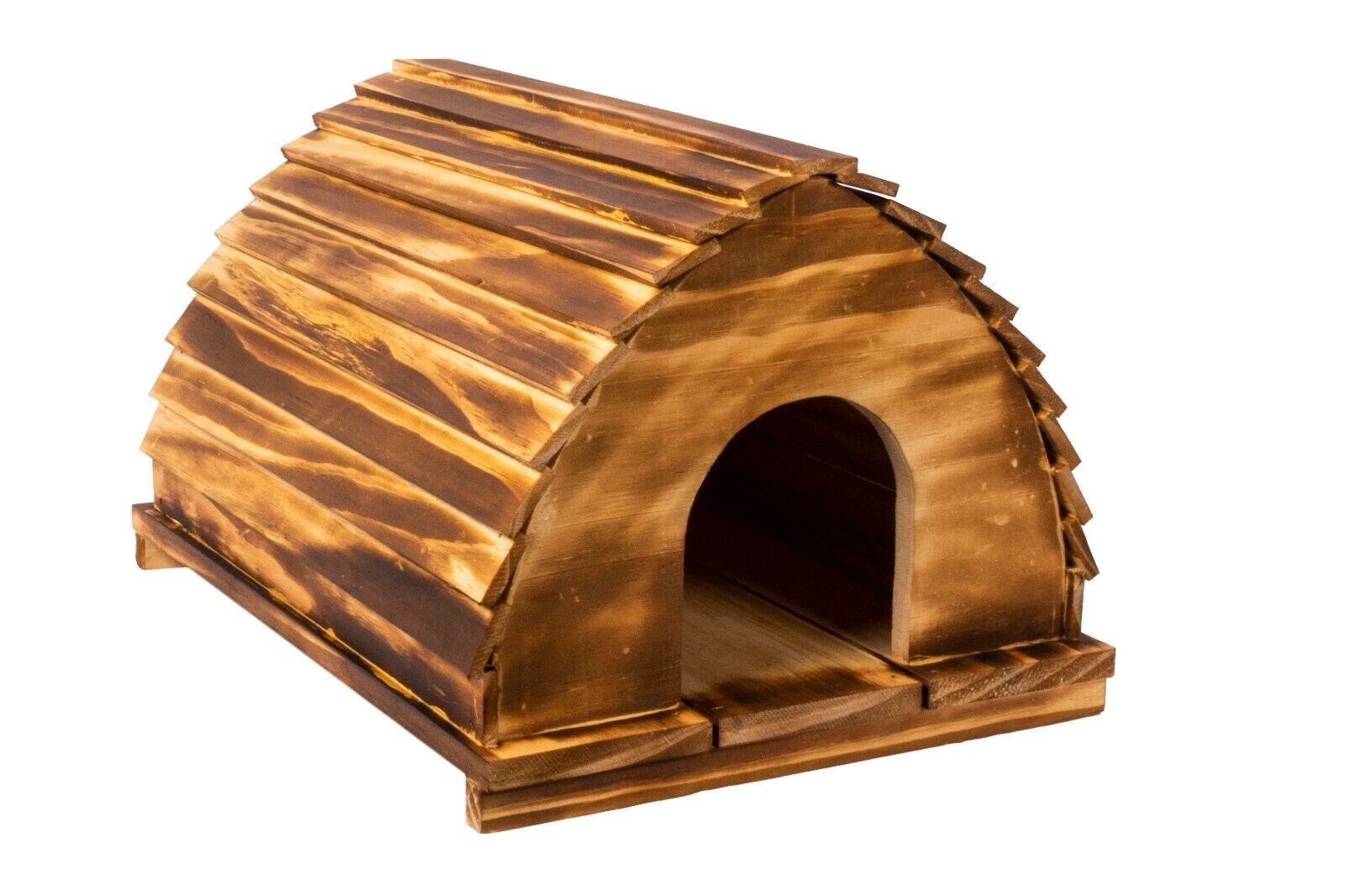 Wooden Hedgehog House Habitat Nesting Hibernation Nesting Home Shelter Box