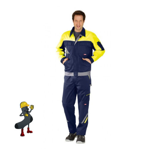 Arbeitshose Arbeitsjacke Arbeitsshort Weste Arbeitslatzhose marineblau//gelb k