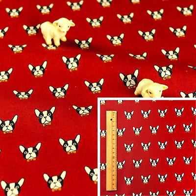 GREY PINK Meter//Fat Quarter//FQ 100/% Cotton Fabric Sew Quilt Craft Dog Puppy Pet