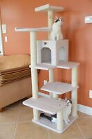 Cat Tree Pet Furniture Condo Scratching Post Kitty Bed Sleeping Kitten Toy Tower
