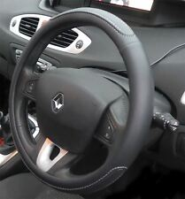 Black Steering Wheel Cover Soft Grip Leather Look for Renault Clio All Models