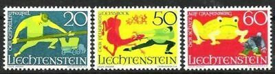 Postfrisch Briefmarken Klug Liechtenstein Nr.518/20 ** Sagen Iii 1969 Brauchtum & Trachten