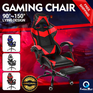 GAMING-CHAIR-RACING-STYLE-PU-LEATHER-OFICIAL-EXECUTIVE-SEAT-COMPUTER-DESK-SWIVEL