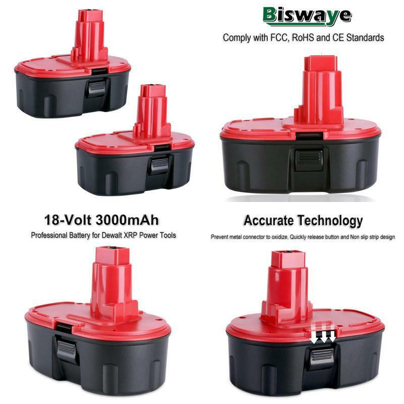 Biswaye 2 Pack Dc9096 Battery 18V 3000Mah For Dewalt 18