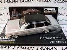 OPE137 1/43 IXO designer serie OPEL collection : ADMIRAL B H.Killmer silver