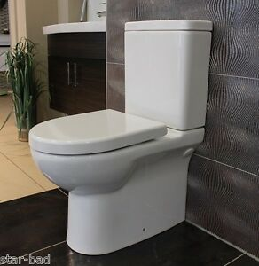 stand wc mit keramiksp lkasten sp lrandlos kombistand wc mit sp lkasten weiss ebay. Black Bedroom Furniture Sets. Home Design Ideas