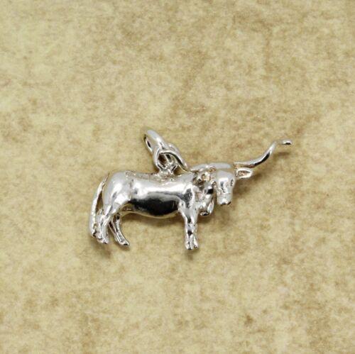 Argent Sterling 925 TEXAS Longhorn Steer charme