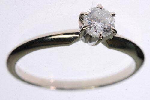 Ladies 14K White gold Diamond Solitaire Engagement Estate Ring J250154