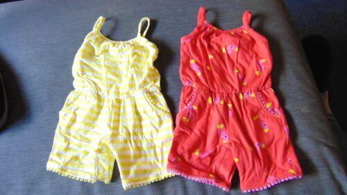 M/&S Mameluco monos cortos Conjunto de 2 100/% Algodón Raya//Aves 3-6cm 69cm rojo//amarillo BNWT