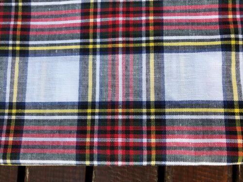 White Tartan Scottish Scot Clan Bandana Headband Hair Tie Dog Chemo Hogmanay