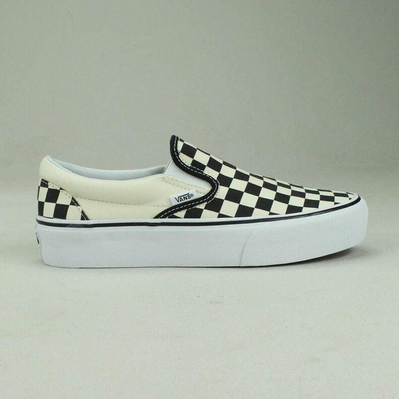 Vans Vans Vans Slip-On Platform Checkerboard Black White Trainers shoes Sizes UK 4,5,6,7 a6778c