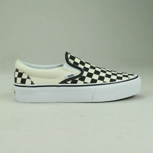 Vans On Shoes Platform Trainers Sizes Blackwhite Checkerboard Slip rSBqwr