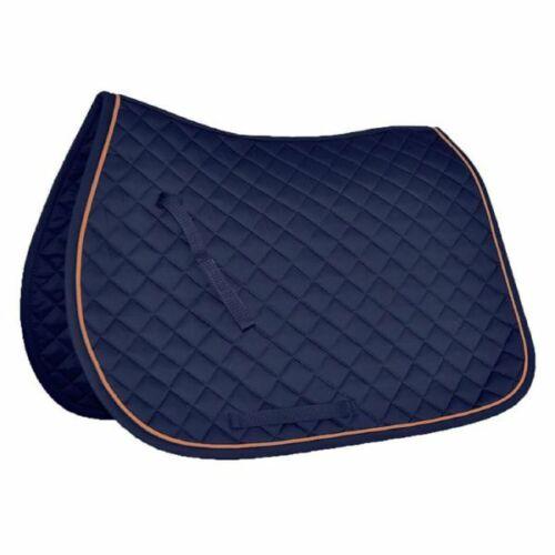 Mark Todd Chabraque avec passepoil bleu marine//orange-Taille Poney-Cob-Complet