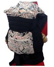 PLUS SIZE NEW MEI TAI BABY SLING CARRIER BROWN FLOWER ON GREEN