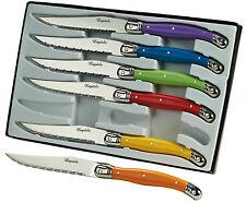Set of 6 Colourful Laguiole Steak Knives