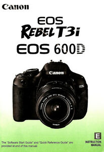canon eos rebel t3i 600d digital slr camera owners instruction rh ebay com canon camera service manual canon t50 camera owners manual