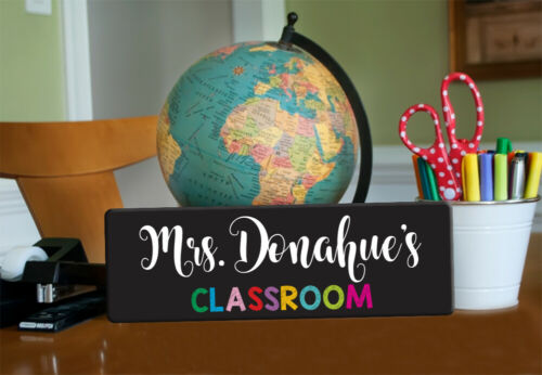 Teacher Door Sign Name Sign Teacher Teacher Gift Personalized Chalkboard