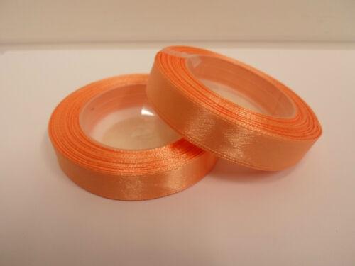 2 Rolls 12mm satin ribbon 26 metres UK Wedding Christmas Xmas Crafts UK VAT Reg