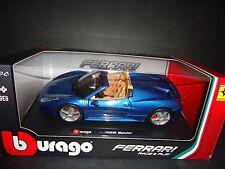 Bburago Ferrari 458 Spider Blue 1/24