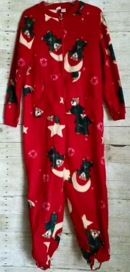 Cherokee Teddy Bear Non Footed Pajamas w Stirrups Original S PLUSH NEW LAST ONE