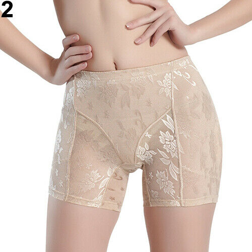 Women Lace Padded Full Hip Enhancer Panties Shaper Underwear Butt Lifter Amid