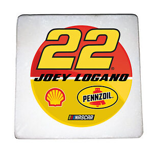 NASCAR #22 JOEY LOGANO MARBLE COASTERS-4PC MARBLE COASTER SET
