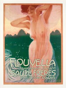 Affiche-Originale-L-Metlicovitz-Parfum-Flouvella-Sauze-Freres-Luxe-1910
