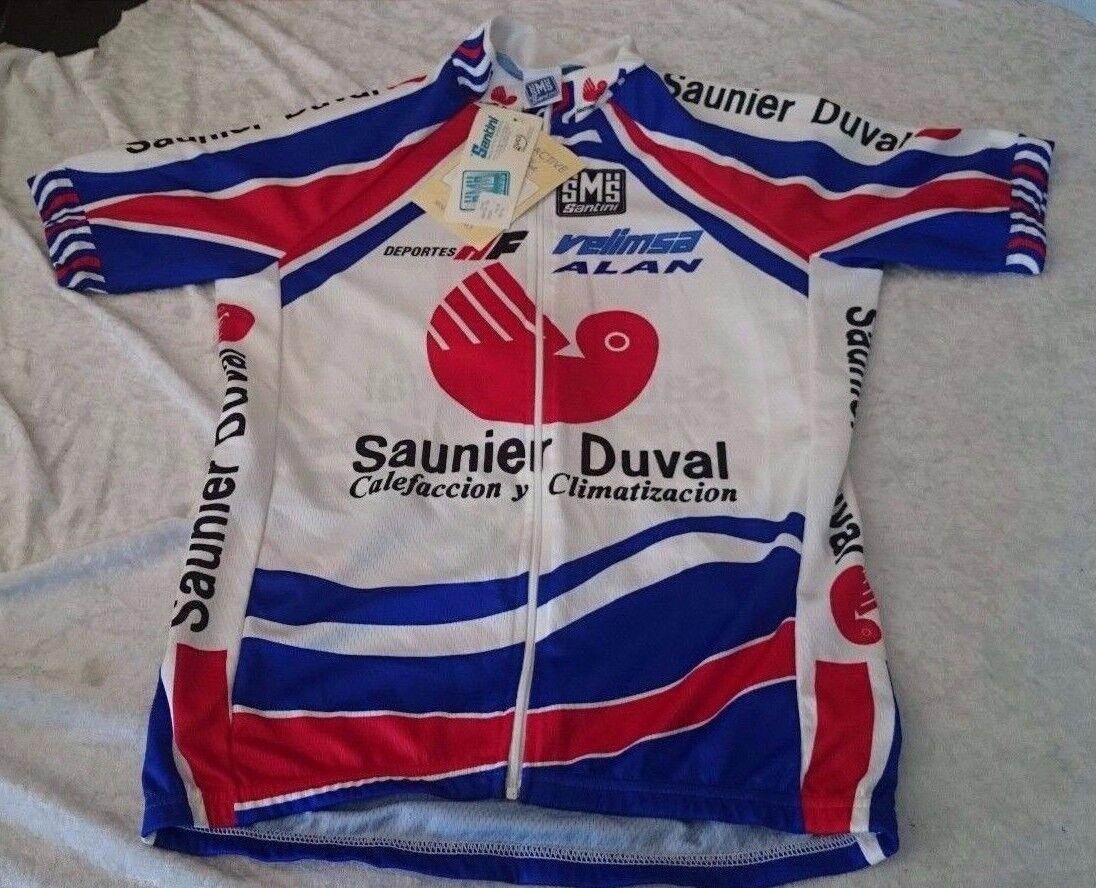 Jersey Cycling Vintage NEW NWT Santini Saunier Duval Velimsa Deportes ALAN