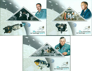 Space-NASA-50-Apollo-11-Anniversary-Neil-Armstrong-3-MNH-stamp-sheets-set