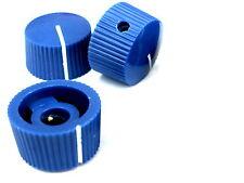 3 Blue 20mm potentiometer knobs guitar amplifier radio pot knob + screw
