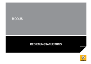 Renault Modus  Bedienungsanleitung 2008-2012