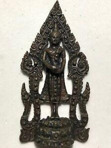 PHRA SETTHEENAVAKOTI LP RARE OLD THAI BUDDHA AMULET PENDANT MAGIC ANCIENT IDOL#6