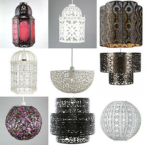 Shabby Chic Moroccan Ceiling Light Shade Pendant New Vintage Style ...