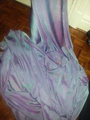 "1M CATIONIC  TWO TONE LILAC BLUE SOFT  DRESS CHIFFON FABRIC 58"" WIDE"