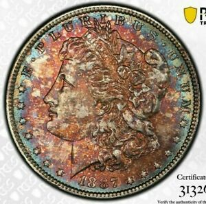 1887-P-USA-MORGAN-SILVER-DOLLAR-PCGS-MS64-TONED-BU-BEAUTIFUL-UNC-COLOR-DR