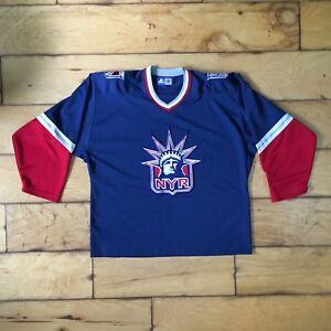 10db83282 Image is loading Starter-Vintage-New-York-Rangers-Hockey-Jersey-Statue-