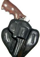 Cebeci Black Leather Owb Belt Slide Holster - Taurus Tracker 627 4 Revolver