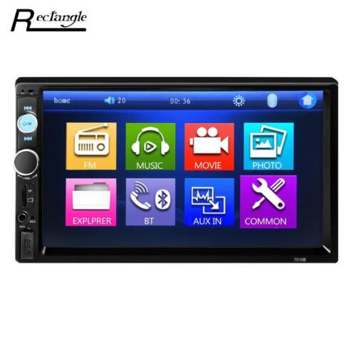 Car Player Mp5 Touch Screen Radio Bluetooth Stereo 7inch Din Hd Fm 2din Camera