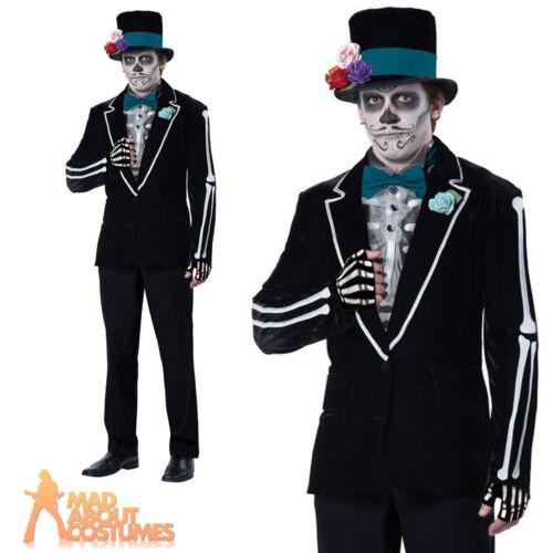 El Novio Muerto Costume Senor Bones Skeleton Day of the Dead Mens Fancy Dress