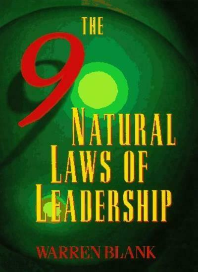 Nine Natural Laws of Leadership,Warren Blank