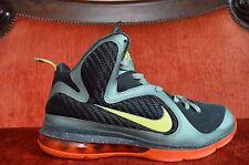 Nike Air Lebron 9 Cannon Volt Slate Blue Team Orange Size 8 OG ALL