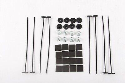 THREE KITS Plastic Universal Radiator Mount Mounting Kit Electric Fan Tie Strap