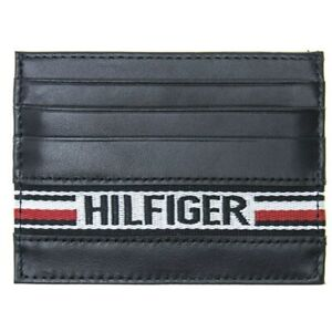 New-Mens-Tommy-Hilfiger-Navy-Tape-Cc-Holder-Leather-Wallet-Wallets
