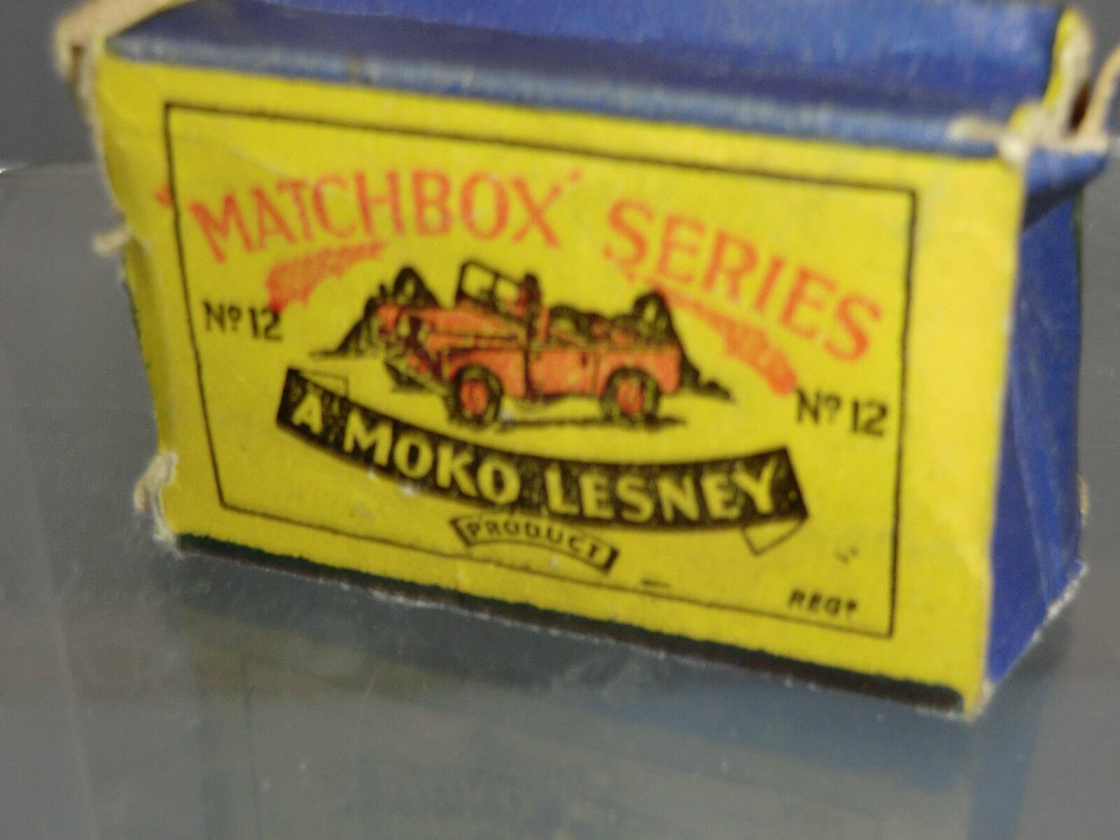 MATCHBOX Lesney Moko modello No.12a LANDROVER VN Nuovo di zecca con scatola
