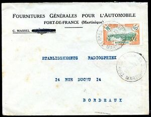 FRANCE-MARTINIQUE-TO-FRANCE-Cover-1932-w-Advertising-VERY-NICE