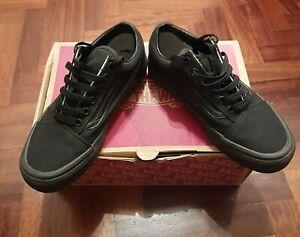 Dettagli su Vans nere Old Skool nuove donna taglia 37 Scarpe da ginnastica cotone e pelle