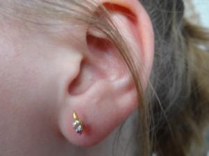 14 K Hallmark Gold Diamant-Ohrstecker im Rubin-Rosenschliff Weihnachtsgeschenk