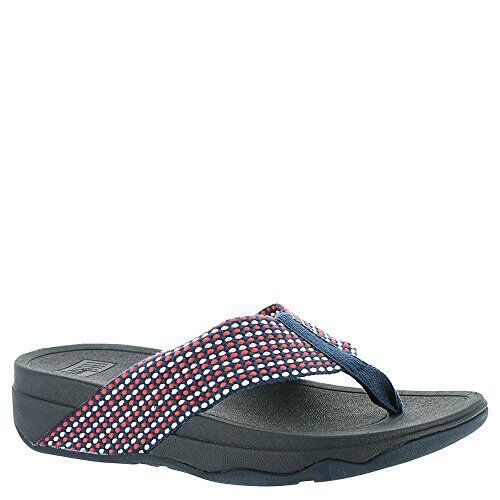 edab67ee67129e Women s FitFlop Surfa Thong Sandal 10 M Midnight Navy Mix Webbing
